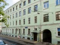 Басманный район, Сверчков переулок, дом 10. многоквартирный дом
