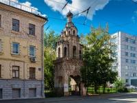 Басманный район, улица Бауманская. памятник архитектуры Колокольня старообрядческой церкви Св. Екатерины