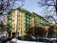 Пресненский район, Богословский переулок, дом 12А. многоквартирный дом