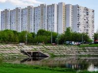 район Люблино, улица Краснодонская, дом 1 к.1. многоквартирный дом