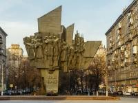 улица Автозаводская. памятник Ополченцам