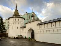 улица Даниловский Вал. памятник архитектуры Георгиевская башня (Данилов ставропигиальный мужской монастырь)