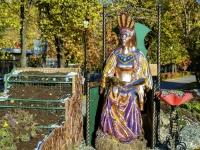 улица Азовская. скульптура Хозяйка медной горы