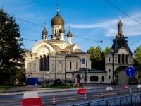 Адмиралтейский район, Старо-Петергофский проспект, дом 29. церковь Казанской иконы Божией Матери подворья Валаамского монастыря