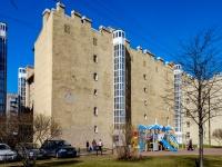Василеостровский район, улица Вёсельная, дом 4. многоквартирный дом