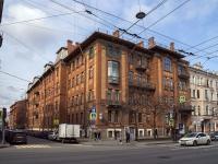 Петроградский район, улица Большая Монетная, дом 10. многоквартирный дом