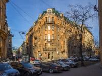 Петроградский район, улица Большая Посадская, дом 1. многоквартирный дом