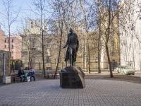 Петроградский район, улица Большая Посадская. памятник  Михаилу Дудину
