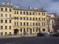 Петроградский район, улица Большая Пушкарская, дом 4. многоквартирный дом