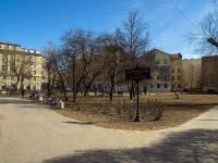 Петроградский район, улица Большая Пушкарская. сквер Пушкарский сад