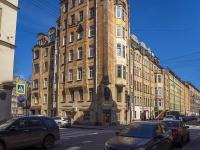 Петроградский район, улица Кропоткина, дом 19. многоквартирный дом