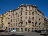 Петроградский район, Чкаловский проспект, дом 34. многоквартирный дом