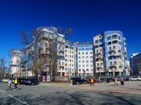 Петроградский район, улица Кемская, дом 1. многоквартирный дом