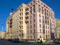Петроградский район, улица Пионерская, дом 16. многоквартирный дом