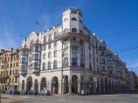 Петроградский район, улица Введенская, дом 21. многоквартирный дом