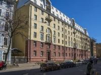 Петроградский район, улица Большая Разночинная, дом 11. многоквартирный дом