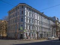 Петроградский район, улица Большая Разночинная, дом 13. многоквартирный дом