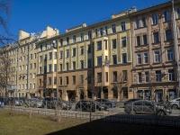 Петроградский район, улица Большая Разночинная, дом 17. многоквартирный дом