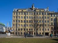 Петроградский район, улица Большая Разночинная, дом 19. многоквартирный дом
