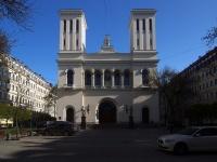 neighbour house: avenue. Nevsky, house 22 к.2. Евангелическо-лютеранская церковь Святых Петра и Павла