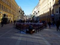 Невский проспект. Фонтан-каскад «Вращающийся шар»