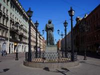 Невский проспект. памятник Н.В. Гоголю