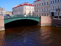 """Центральный район, улица Набережная реки Мойки. мост """"Певческий"""""""