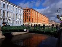 Центральный район, улица Набережная канала Грибоедова. мост Итальянский