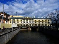 Центральный район, улица Набережная канала Грибоедова. мост Театральный
